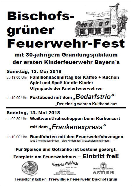 Plakat Feuerwehrfest 2018