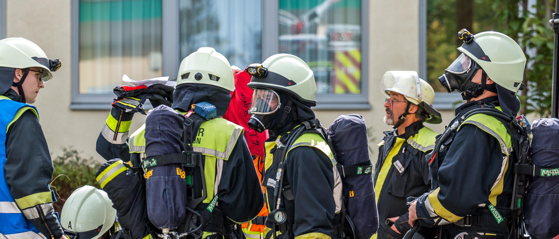 Übung zur Feuerwehraktionswoche 2018